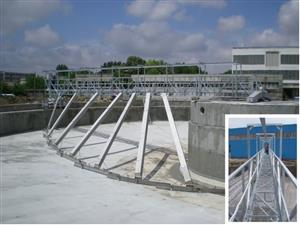 Equipment for the waste water treatment and cleaning